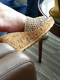 Feet, Wife, Friends, Friend, Wedges, Sexy wife