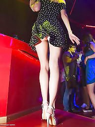 Upskirt, Horny, Club