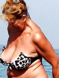 Granny, Granny beach, Mature beach, Busty mature, Busty granny, Mature mix