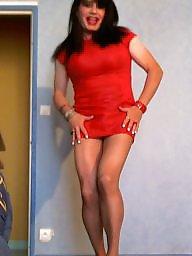 Upskirt, Upskirt milf, Red, Sexy milf, Milf upskirt