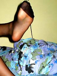 Nylon, Feet, Nylon feet, Stocking feet, Nylons