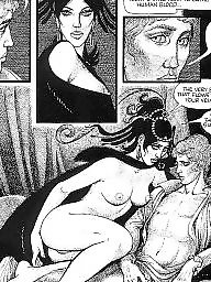 Comics, Comic, Red, Art, Erotic, Vintage cartoon