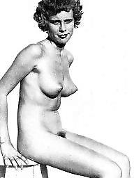 Vintage, Naked, Hairy babe, Magazine, Vintage hairy