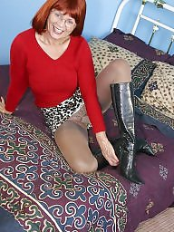 Granny, Granny nylon, Granny stockings, Leggings, Mature nylon, Mature legs