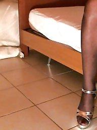 Nylon, Femdom, Black, Heels, Amateur, Nylons