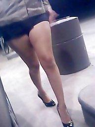High heels, Heels, Candid, Upskirt milf, Milf upskirt, High