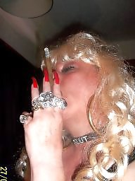 Smoking, Smoke, Blonde milf, Nails