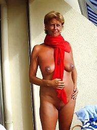 Nudist, Nudists, Mature big tits, Wifes tits, Big tit wife, Big mature