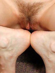 Hairy stockings, Stocking hairy, Hairy redhead