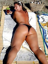 Beach, Bikini, Milf ass, Bikini beach, Beach milf