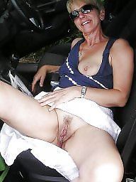 Car, Mature big boobs, Women, Big mature, Cars, Voyeur mature