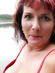 Mature posing, Lake, Sexy milf, Mature pose