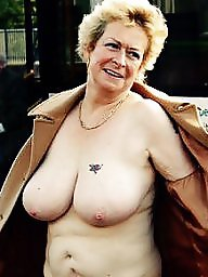 Mature, Granny, Grannies, Boobs, Big boobs, Flashing