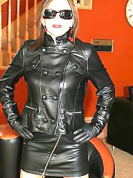 Latex, Leather, Pvc, Boots, Milf, Mature leather