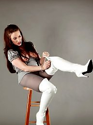Pantyhose, Boots, Thighs, Grey
