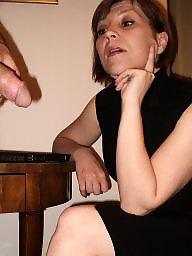 Cfnm, Secretary, Milf ass, Milf facial