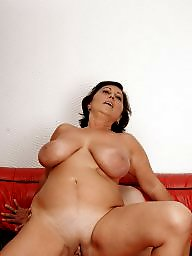 Old, Boobs, Red, Bbw boobs, Young old, Couch