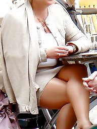 Nylons, Amateur nylon, Street, Upskirt stockings