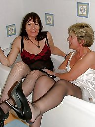 Sara, Wet, Mature lesbian, Wet panties, Mature panties, White panties