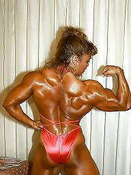 Muscle, Retro, Muscled, Female, Muscles
