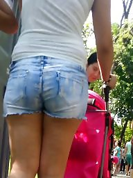Jeans, Teen ass, Spy, Short, Romanian, Shorts