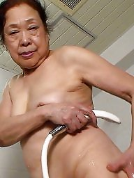 Granny, Natural, Asian, Asian mature, Shaved, Mature asian