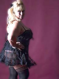 Bbw stockings, British, British mature, Mature blonde, Blonde bbw, Blonde mature