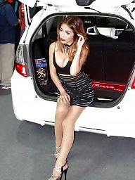 Pantyhose, High heels, Motor, High, Asian big boobs