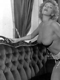 Vintage, Classic, Blonde, Big boobs