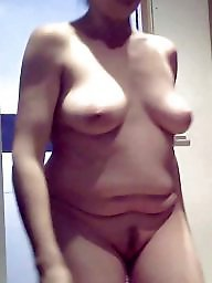 Naked, Amateur wife, Unaware