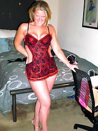 Lingerie, Amateur lingerie, Blonde milf