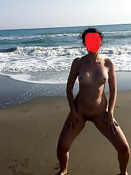 Turkish, Wife, Turkish wife, Public flash, Wife flashing, Wife beach
