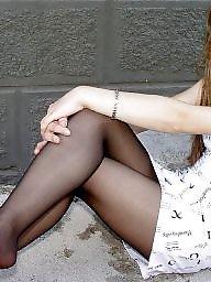 Pantyhose, Girl, Amateur pantyhose, Pantyhose upskirt