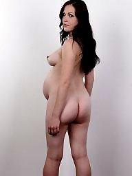Pregnant, Casting, Brunette milf