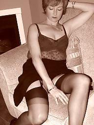 Amateur milf, Mature stockings