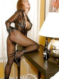 Stocking, Older, Dressed, Mature dress, Mature dressed, Dressing