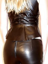 Leather, Latex, Amateur ass, Leather ass