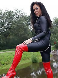 Boots, Leather, Latex, Pvc, Mature porn, Mature leather