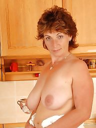 Kitchen, Hairy mature, Matures, Big hairy, Hairy milf, Mature boobs