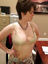 Amateur, Strip, Office, Milf tits, Officer