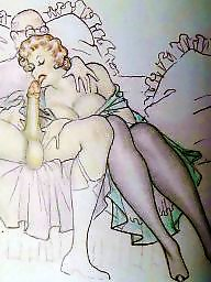 Drawings, Drawing, Draw, Vintage cartoons, Erotic, Vintage cartoon