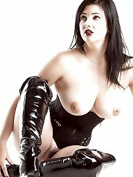 Latex, Boots, Black, Corset, Corsets