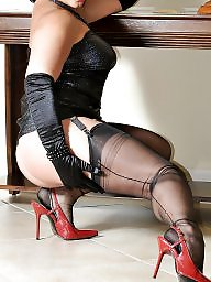 Girdle, Upskirt, Mature upskirt, Suspenders, Upskirt mature, Mature girdle