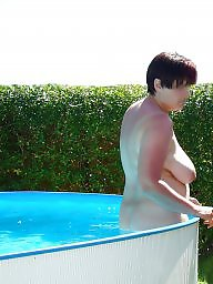 Mature, Pool, Voyeur mature, Mature pool