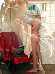 Window, Through, Spy mature, Window voyeur