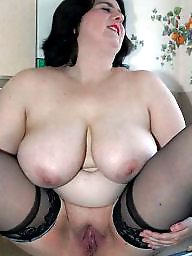 Spreading, Spread, Bbw spreading, Shaved, Bbw stockings, Bbw spread