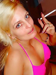 Smoking, Cougar, Mature, Mature blowjob, Smoke, Amateur wife