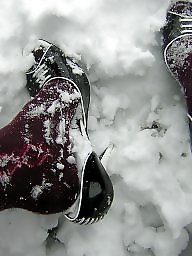Stockings, Heels, Snow, Stockings heels