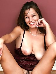 Mature tits, Mature brunette
