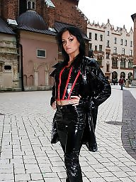 Pvc, Latex, Boots, Leather, Mature leather, Mature pvc